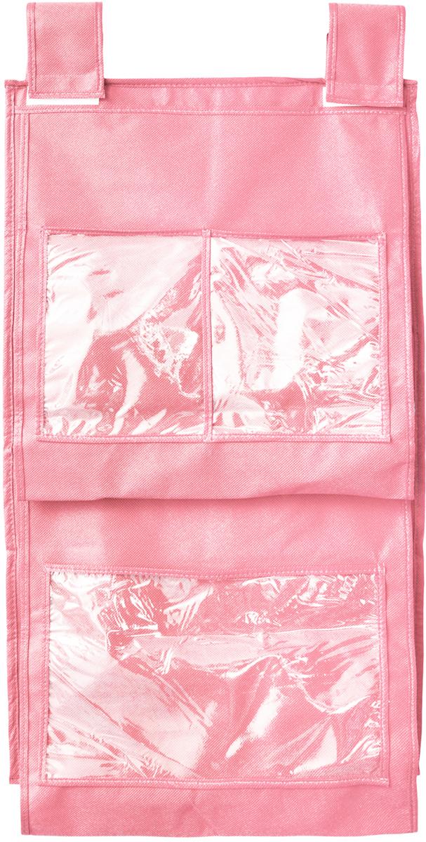 Кофр для сумок и аксессуаров Все на местах Minimalistic, цвет: розовый, 8 секций, 40 х 70 см1014019.Кофр для сумок и аксессуаров Все на местах Minimalistic выполнен из спанбонда и ПВХ. Модель крепится на штангу в шкафу или вешалку-плечики. Выделено 8 секций для хранения сумок, клатчей, театральных сумок, кошельков, зонтов, перчаток, палантинов, шарфов, шалей и т.д. Кофр решает проблему компактного хранения сумок и экономит место в шкафу.Размеры: 40 х 70 см.
