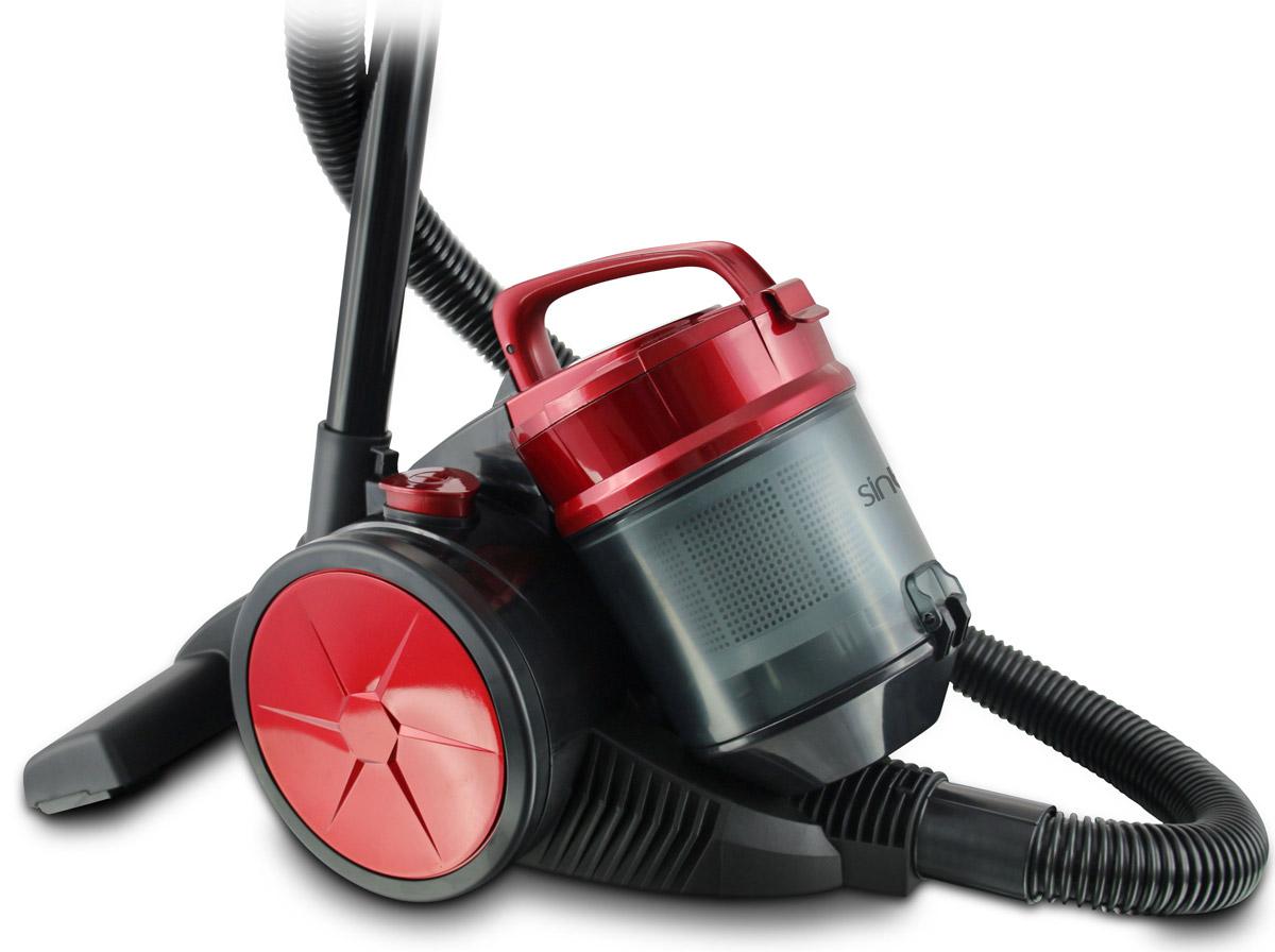 Sinbo SVC 3480Z, Red пылесосSVC 3480ZПылесос SINBO SVC 3480Z - простая и недорогая модель для поддержания чистоты в доме.Данная модель оснащена современным циклонным фильтром и не имеет мешка-пылесборника, что позволяеит легко и просто очистить контейнер для мусора.Главная особенность данного пылесоса - наличие мягкого бампера.Как выбрать пылесос. Статья OZON Гид