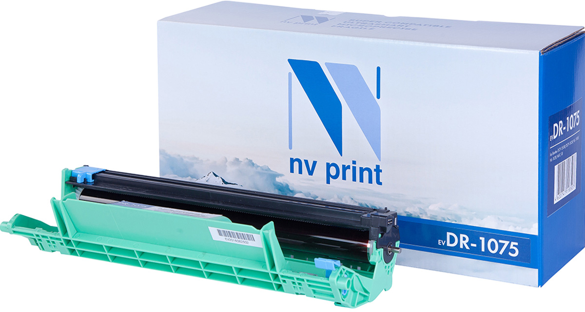 NV Print DR1075, Black фотобарабан для Brother DCP-1510R/DCP-1512R/HL-1110R/HL-1112R/MFC-18 тонер brother bt5000y yellow для dcp t300 t500w t700w