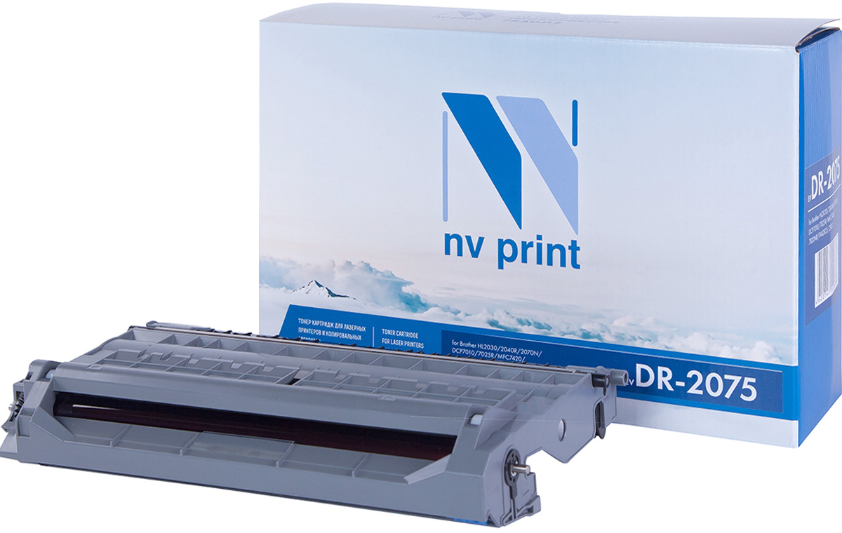 NV Print DR2075, Black фотобарабан для Brother HL2030/2040R/2070N/DCP7010/7025R/MFC7420/7820NR/FAX2825/2920 cactus cs tn2075 black тонер картридж для brother dcp 7010 7020 7025 fax 2820 2825 2920 hl 2030 2040 2070 mfc 7225 7420 7820
