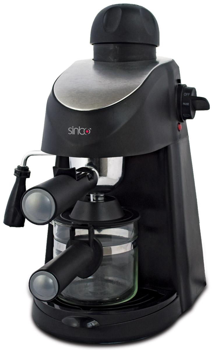 Sinbo SCM 2945 кофеваркаSCM 2945Кофеварка Sinbo SCM 2945 гарантирует высокую производительность, экономичность и отменное качество готового кофе.Благодаря стильному дизайну кофеварка Sinbo отлично впишется в любой интерьер. Модель оснащена ручным капучинатором, с помощью которого вы сможете приготовить нежнейший капучино. Индикатор уровня воды подскажет вам, когда нужно будет добавить жидкости в резервуар. Съемный поддон для капель облегчит уход за устройством. В данной кофеварке используется молотый кофе. Объем резервуара для воды составляет 0,6 л. Давление помпы кофеварки достигает 3,5 Бар.