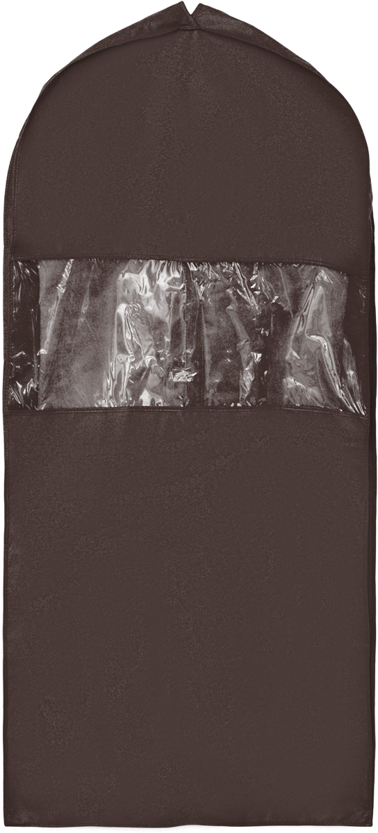 Чехол для костюма Все на местах Minimalistic, цвет: темно-коричневый, 130 х 60 х 10 см