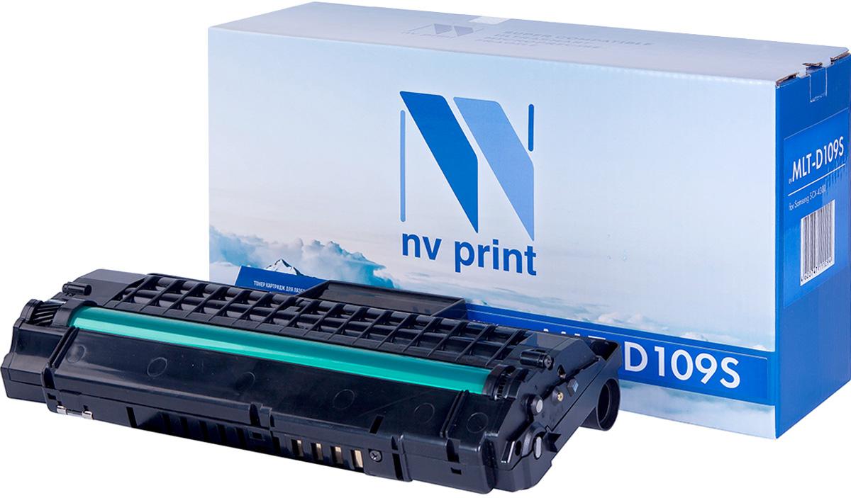 NV Print MLT-D109S, Black тонер-картридж для Samsung SCX-4300NV-MLTD109SСовместимый лазерный картридж NV Print MLT-D109S для печатающих устройств Samsung - это альтернатива приобретению оригинальных расходных материалов. При этом качество печати остается высоким. Картридж обеспечивает повышенную чёткость чёрного текста и плавность переходов оттенков серого цвета и полутонов, позволяет отображать мельчайшие детали изображения.Лазерные принтеры, копировальные аппараты и МФУ являются более выгодными в печати, чем струйные устройства, так как лазерных картриджей хватает на значительно большее количество отпечатков, чем обычных. Для печати в данном случае используются не чернила, а тонер.