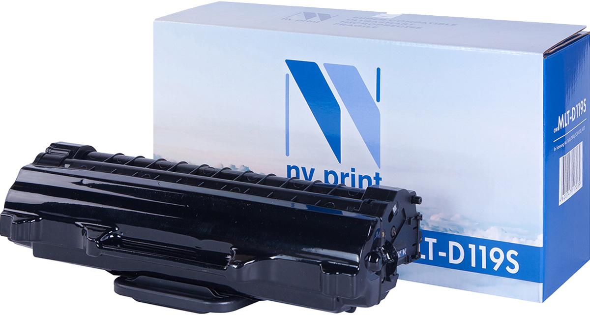 NV Print MLTD119S, Black тонер-картридж для Samsung ML-1610/1615/1620/1625/ML-2010/2015/2020/ 2510/2570/2571/SCX-4321/4521NV-MLTD119SСовместимый лазерный картридж NV Print MLTD119S для печатающих устройств Samsung - это альтернатива приобретению оригинальных расходных материалов. При этом качество печати остается высоким. Картридж обеспечивает повышенную чёткость чёрного текста и плавность переходов оттенков серого цвета и полутонов, позволяет отображать мельчайшие детали изображения.Лазерные принтеры, копировальные аппараты и МФУ являются более выгодными в печати, чем струйные устройства, так как лазерных картриджей хватает на значительно большее количество отпечатков, чем обычных. Для печати в данном случае используются не чернила, а тонер.