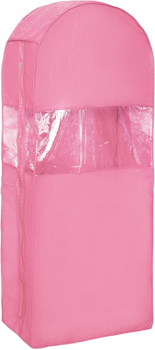 Чехол для шуб Все на местах Minimalistic. Lux, цвет: розовый, 130 х 18 х 58 см1014032.Чехол Все на местах Minimalistic. Lux изготовлен из сочетания спанбонда и ПВХ. Изделие предназначено для хранения шуб. Нетканый материал чехла пропускает воздух, что позволяет изделиям дышать. Благодаря пластиковым вставкам, чехол идеально держит форму и его стенки не соприкасаются с мехом изделия и не приминают его. С таким чехлом шуба надежно защищена от моли, пыли и механического воздействия. Застегивается на застежку-молнию.Материал: спанбонд, ПВХ.Размер: 130 х 18 х 58 см.