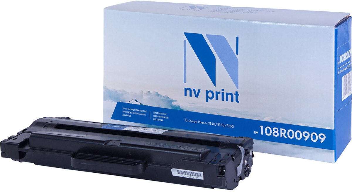 NV Print NV-108R00909, Black тонер-картридж для Xerox Phaser 3140/3155/3160 цена и фото