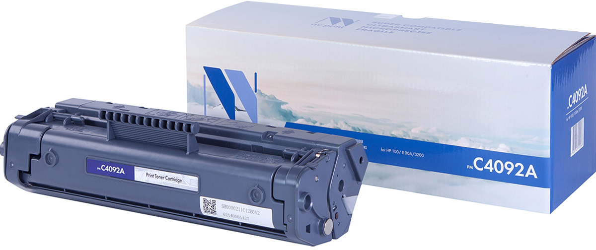 NV Print NV-C4092A, Black тонер-картридж для HP LaserJet 1100/1100A/3200 картридж nv print для hp lj 1100 1100a 3200 c4092a