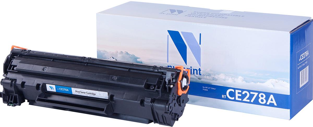 NV Print NV-CE278A, Black тонер-картридж для HP LaserJet Р1566/Р1606 картридж для принтера nv print hp q5949x q7553x black