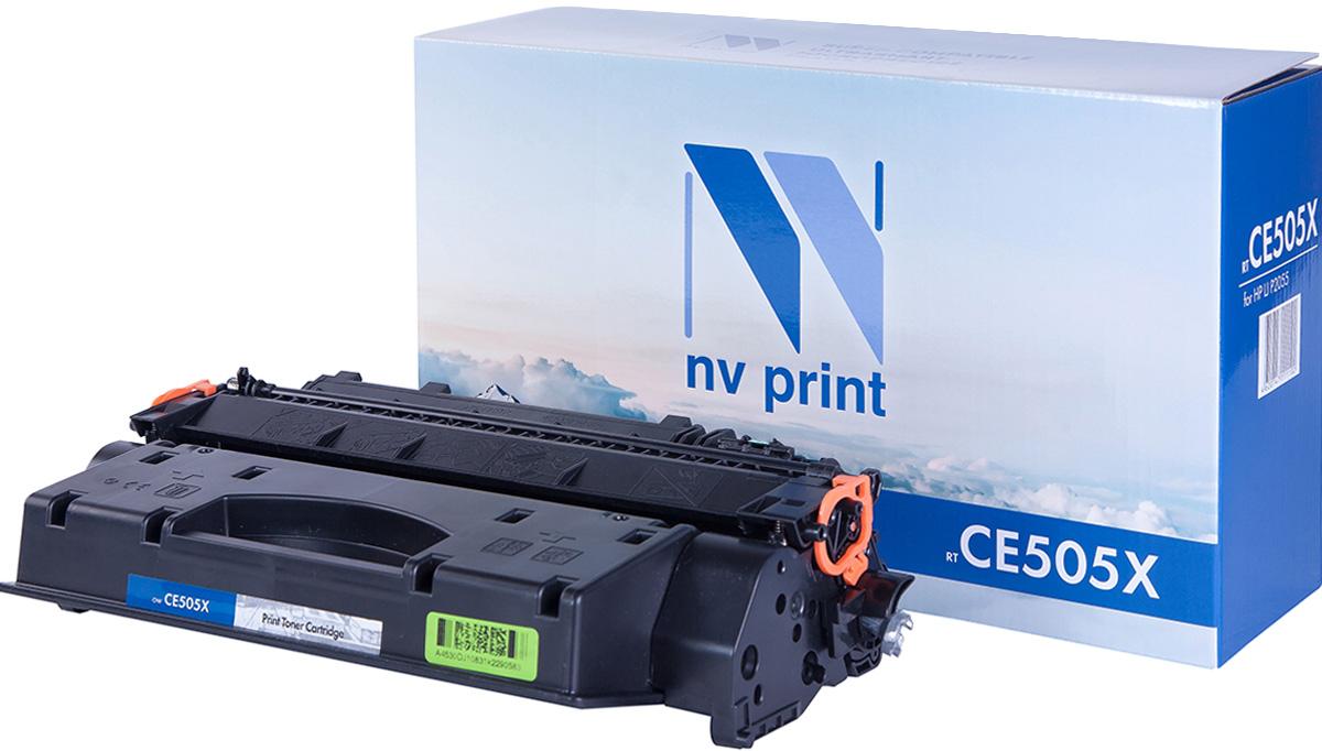 NV Print NV-CE505X, Black тонер-картридж для HP LaserJet P2055NV-CE505XСовместимый лазерный картридж NV Print NV-CE505X для печатающих устройств HP - это альтернатива приобретению оригинальных расходных материалов. При этом качество печати остается высоким. Картридж обеспечивает повышенную чёткость чёрного текста и плавность переходов оттенков серого цвета и полутонов, позволяет отображать мельчайшие детали изображения.Лазерные принтеры, копировальные аппараты и МФУ являются более выгодными в печати, чем струйные устройства, так как лазерных картриджей хватает на значительно большее количество отпечатков, чем обычных. Для печати в данном случае используются не чернила, а тонер.