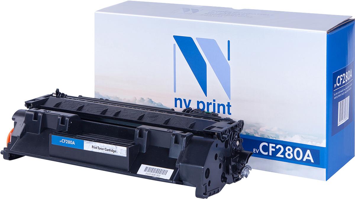 NV Print NV-CF280A, Black тонер-картридж для HP LaserJet 400 M401/M425 nv print cf210x canon 731 black тонер картридж для hp laserjet pro m251 m276 canon lbp 7100cn 7110cw