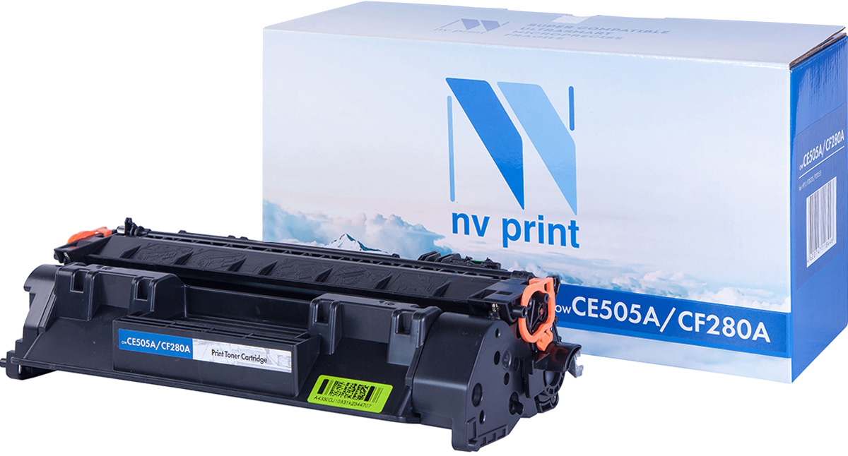 NV Print NV-CF280A/CE505A, Black тонер-картридж для HP LaserJet P2035/P2055/400/M401/M425 картридж для принтера nv print hp q5949x q7553x black