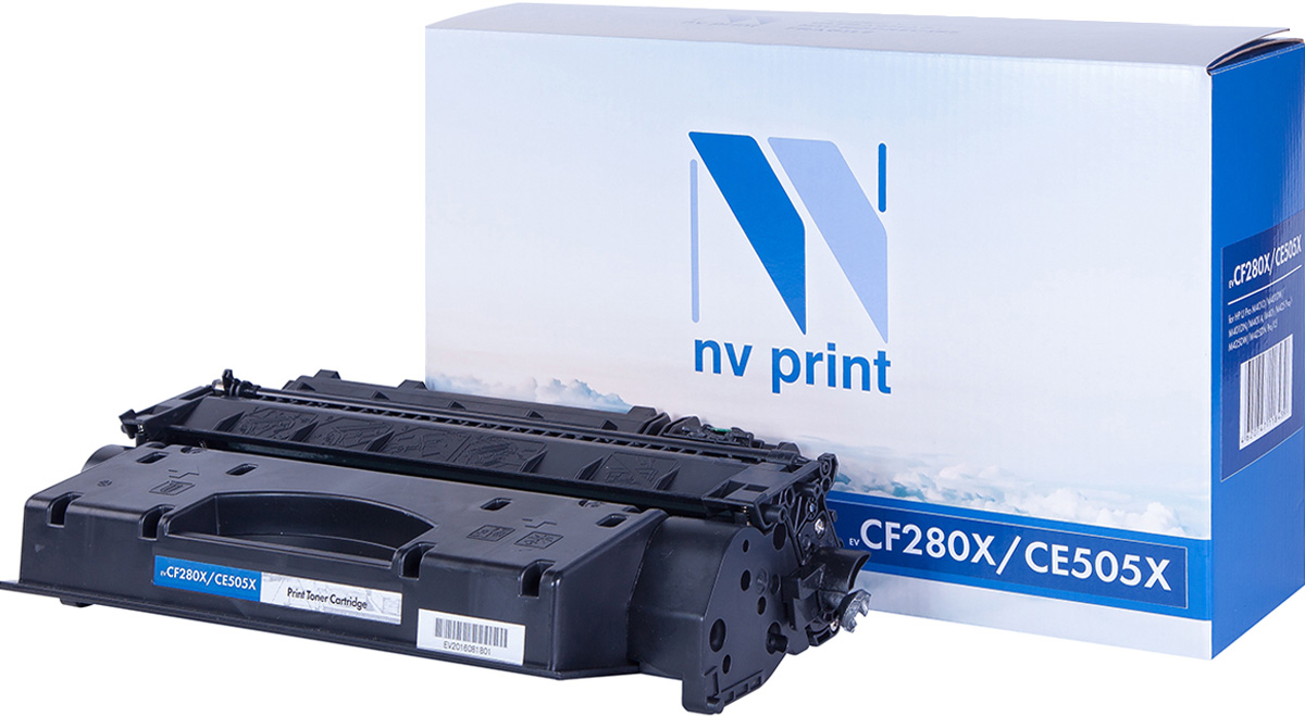 NV Print NV-CF280X/CE505X, Black тонер-картридж для HP LaserJet P2055/400/M401/M425 nv print cf280x