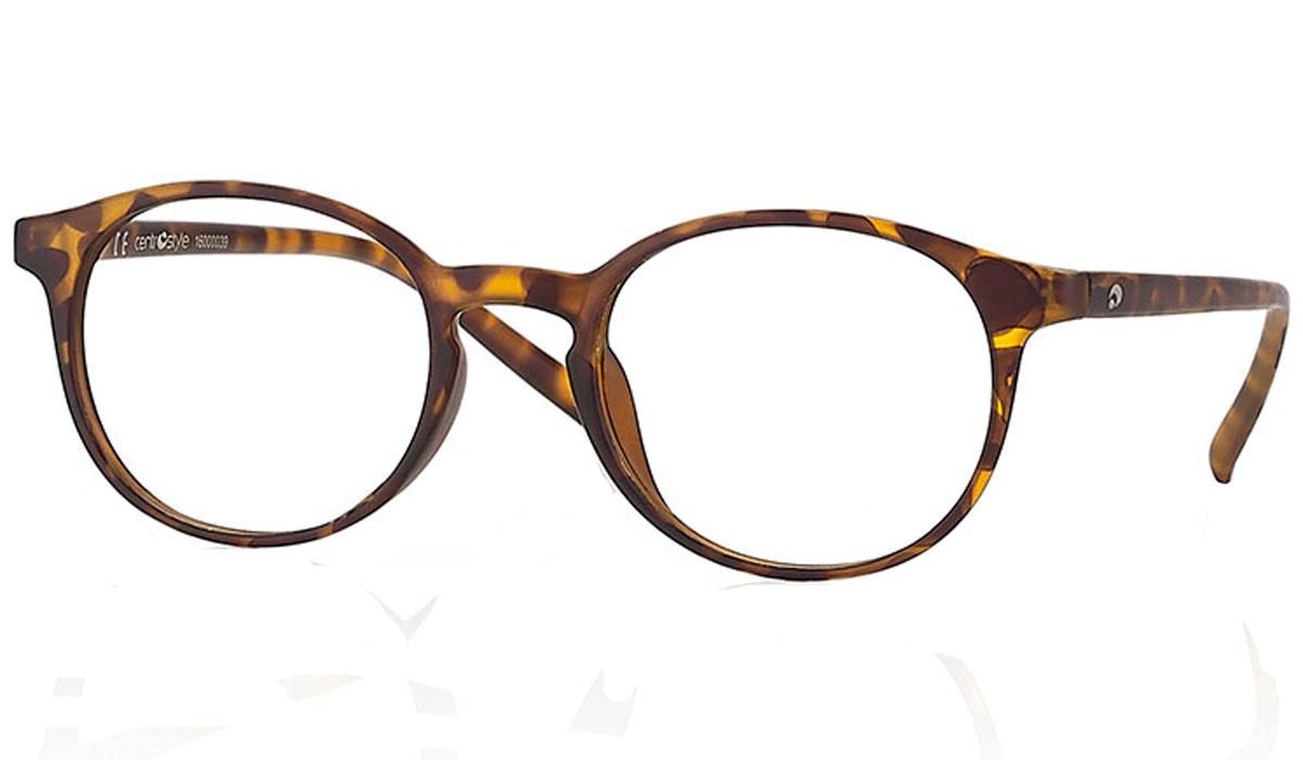 CentroStyle Очки для чтения +1.00, цвет: коричневый60850Готовые очки для чтения - это очки с плюсовыми диоптриями, предназначенные для комфортного чтения для людей с пониженной эластичностью хрусталика. Очки итальянской марки Centrostyle - это модные и незаменимые в повседневной жизни аксессуары. Более чем двадцати летний опыт дизайнеров компании CentroStyle гарантирует комфорт и качество.