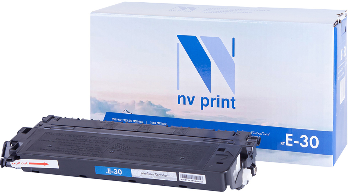 NV Print NV-E30, Black тонер-картридж для Canon FC-200/300/500 Series; PC-700/PC-800 Series картридж для принтера nv print для canon cartridge 703