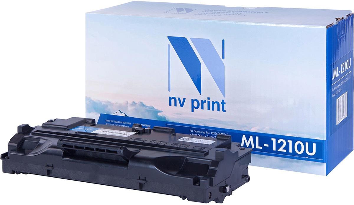 NV Print NV-ML1210UNIV, Black тонер-картридж для Samsung ML-1010/1020/1210/1220M/1250/1430/4500/4600/808/MSYS-5100P/SF-5100/5100P/515/530/531P/535e/555P/Xerox Phaser 3110/3210/Ricoh H293/Lexmark E210NV-ML1210UNIVСовместимый лазерный картридж NV Print NV-ML1210UNIV для печатающих устройств Samsung, Xerox, Ricoh и Lexmark - это альтернатива приобретению оригинальных расходных материалов. При этом качество печати остается высоким. Картридж обеспечивает повышенную чёткость чёрного текста и плавность переходов оттенков серого цвета и полутонов, позволяет отображать мельчайшие детали изображения.Лазерные принтеры, копировальные аппараты и МФУ являются более выгодными в печати, чем струйные устройства, так как лазерных картриджей хватает на значительно большее количество отпечатков, чем обычных. Для печати в данном случае используются не чернила, а тонер.