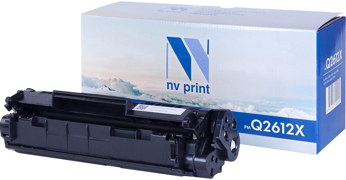 NV Print NV-Q2612X, Black тонер-картридж для HP LaserJet 1005/1006/1010/1012/1015/1020/1319MFP/3015/3020/3030NV-Q2612XСовместимый лазерный картридж NV Print NV-Q2612X для печатающих устройств HP - это альтернатива приобретению оригинальных расходных материалов. При этом качество печати остается высоким. Картридж обеспечивает повышенную чёткость чёрного текста и плавность переходов оттенков серого цвета и полутонов, позволяет отображать мельчайшие детали изображения.Лазерные принтеры, копировальные аппараты и МФУ являются более выгодными в печати, чем струйные устройства, так как лазерных картриджей хватает на значительно большее количество отпечатков, чем обычных. Для печати в данном случае используются не чернила, а тонер.