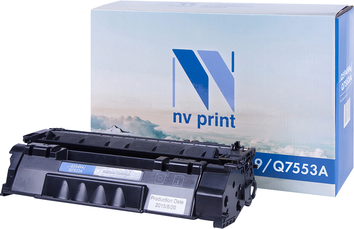 NV Print NV-Q5949A/Q7553A, Black тонер-картридж для HP LaserJet 1160/1320/3390/3392/P2014/P2015/M2727 mfp nv print cf212a cartridge 731 yellow тонер картридж для hp laserjet pro m251 m276 canon lbp 7100cn 7110cw