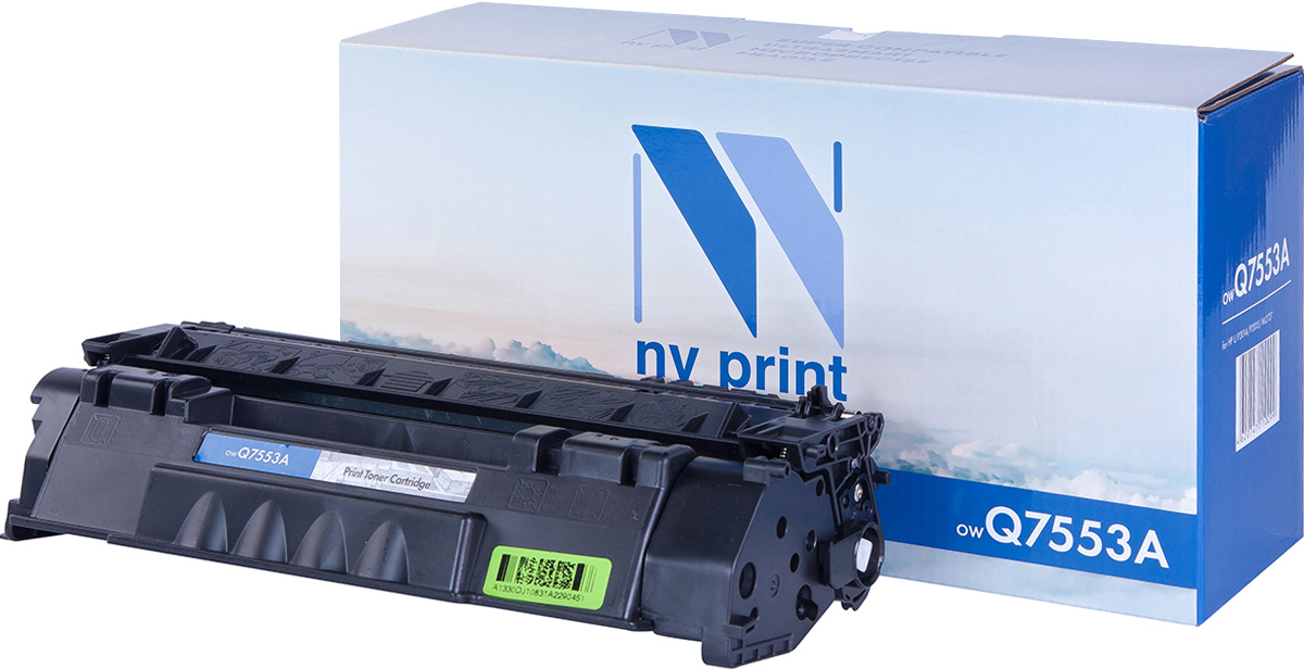 NV Print NV-Q7553A, Black тонер-картридж для HP LaserJet P2014/P2015/M2727 nv print nv q7516a black тонер картридж для hp laserjet 5200 5200tn 5200dtn