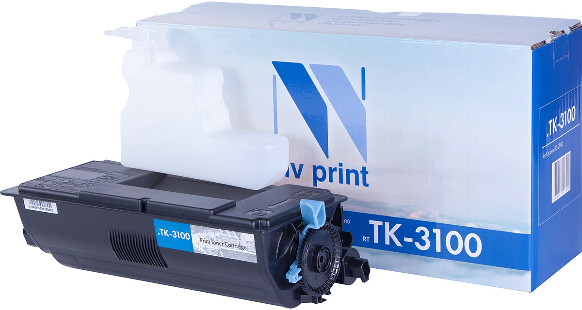 NV Print NV-TK3100, Black тонер-картридж для Kyocera FS-2100D/2100DN/M3040dn/M3540dnNV-TK3100Совместимый лазерный картридж NV Print NV-TK3100 для печатающих устройств Kyocera - это альтернатива приобретению оригинальных расходных материалов. При этом качество печати остается высоким. Картридж обеспечивает повышенную чёткость чёрного текста и плавность переходов оттенков серого цвета и полутонов, позволяет отображать мельчайшие детали изображения.Лазерные принтеры, копировальные аппараты и МФУ являются более выгодными в печати, чем струйные устройства, так как лазерных картриджей хватает на значительно большее количество отпечатков, чем обычных. Для печати в данном случае используются не чернила, а тонер.
