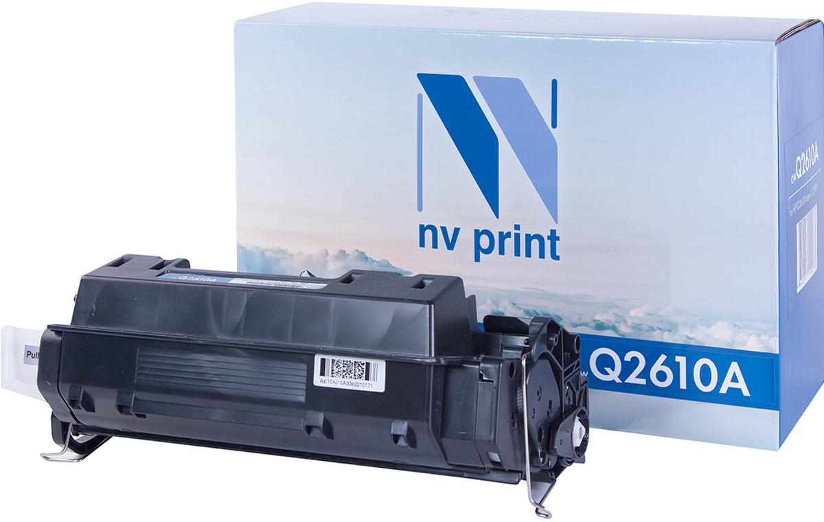 NV Print Q2610A, Black тонер-картридж для HP LaserJet 2300NV-Q2610AСовместимый лазерный картридж NV Print Q2610A для печатающих устройств HP - это альтернатива приобретению оригинальных расходных материалов. При этом качество печати остается высоким. Картридж обеспечивает повышенную чёткость чёрного текста и плавность переходов оттенков серого цвета и полутонов, позволяет отображать мельчайшие детали изображения.Лазерные принтеры, копировальные аппараты и МФУ являются более выгодными в печати, чем струйные устройства, так как лазерных картриджей хватает на значительно большее количество отпечатков, чем обычных. Для печати в данном случае используются не чернила, а тонер.