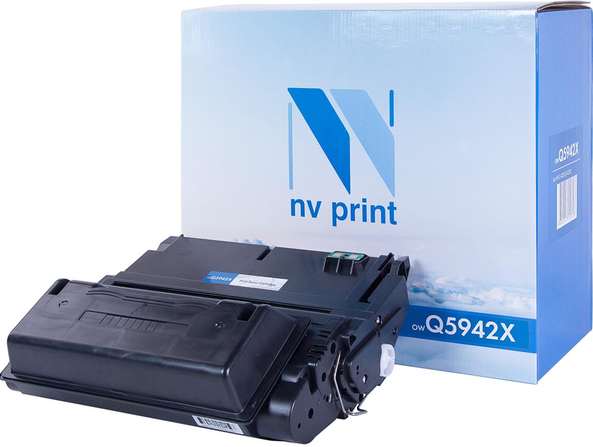 NV Print Q5942X, Black тонер-картридж для HP LaserJet 4250/4350NV-Q5942XСовместимый лазерный картридж NV Print Q5942X для печатающих устройств HP - это альтернатива приобретению оригинальных расходных материалов. При этом качество печати остается высоким. Картридж обеспечивает повышенную чёткость и плавность переходов оттенков цвета и полутонов, позволяет отображать мельчайшие детали изображения.Лазерные принтеры, копировальные аппараты и МФУ являются более выгодными в печати, чем струйные устройства, так как лазерных картриджей хватает на значительно большее количество отпечатков, чем обычных. Для печати в данном случае используются не чернила, а тонер.