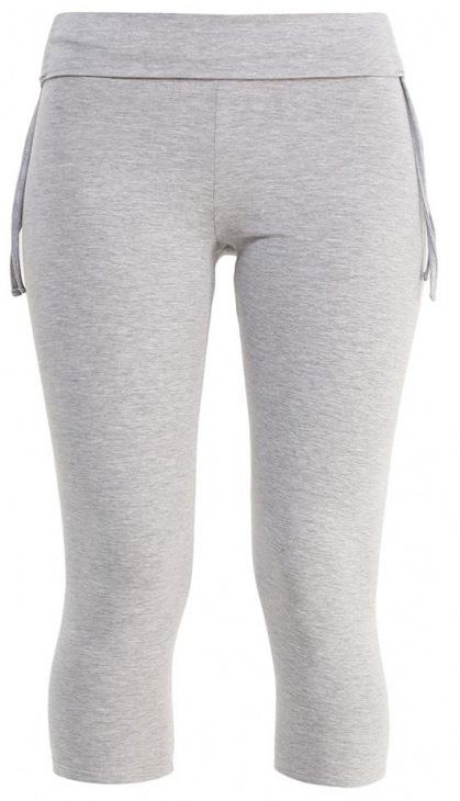 все цены на  Лосины укороченные женские Sela, цвет: серый меланж. PLGs-115/826-7234. Размер XS (42)  онлайн