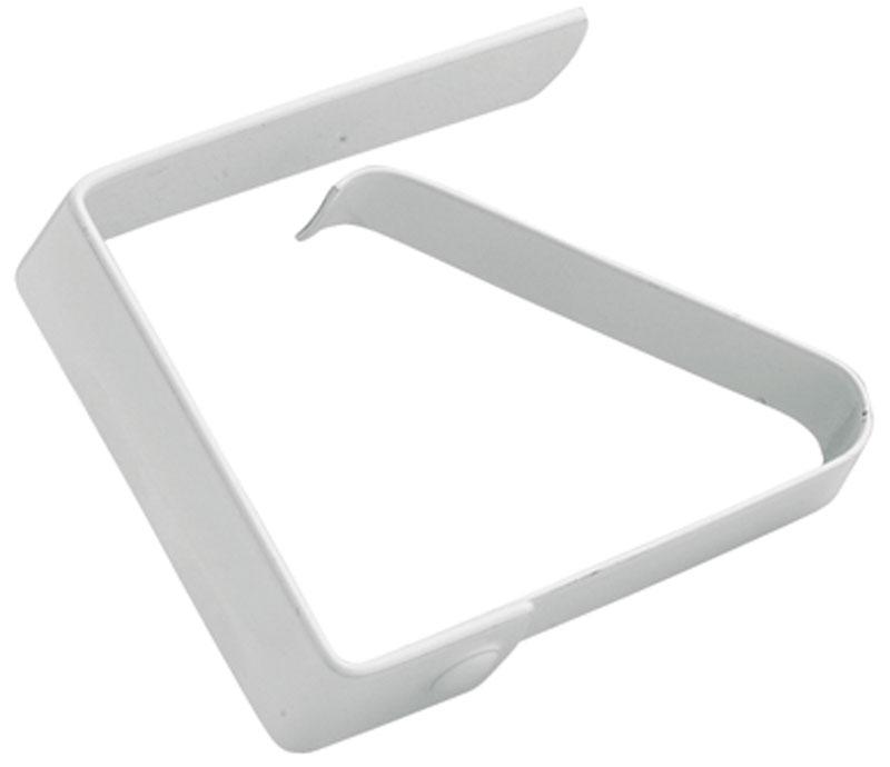 Клипса для скатерти Gefu, 4 шт22450Набор из 4-х клипс для скатерти предназначен для крепления скатерти к столу. Клипсы изготовлены из нержавеющей стали и окрашены белой краской. Прочная конструкция креплений прослужит долго при частой эксплуатации, в том числе на открытом воздухе. Количество 4 шт.