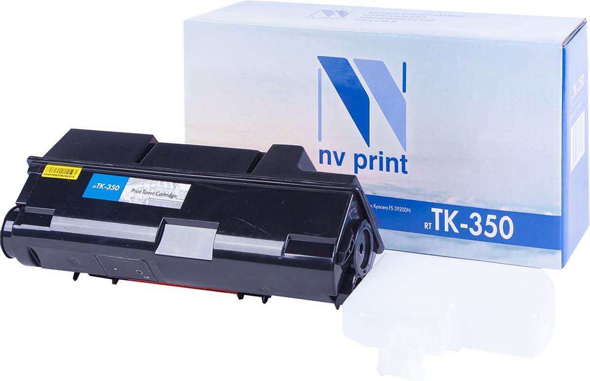 NV Print TK-350, Black тонер-картридж для Kyocera FS-3920DN/3040/3140MFP/3040MFP+/ 3140MFP+/3540MFP/3640MFPTK-350Совместимый лазерный картридж NV Print для печатающих устройств Kyocera - это альтернатива приобретению оригинальных расходных материалов. При этом качество печати остается высоким. Картридж обеспечивает повышенную чёткость чёрного текста и плавность переходов оттенков серого цвета и полутонов, позволяет отображать мельчайшие детали изображения.Лазерные принтеры, копировальные аппараты и МФУ являются более выгодными в печати, чем струйные устройства, так как лазерных картриджей хватает на значительно большее количество отпечатков, чем обычных. Для печати в данном случае используются не чернила, а тонер.