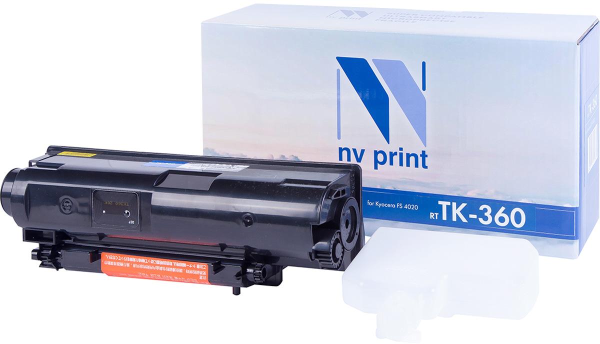 NV Print TK360, Black тонер-картридж для Kyocera FS-4020DN/4020NV-TK360Совместимый лазерный картридж NV Print TK360 для печатающих устройств Kyocera - это альтернатива приобретению оригинальных расходных материалов. При этом качество печати остается высоким. Картридж обеспечивает повышенную чёткость чёрного текста и плавность переходов оттенков серого цвета и полутонов, позволяет отображать мельчайшие детали изображения.Лазерные принтеры, копировальные аппараты и МФУ являются более выгодными в печати, чем струйные устройства, так как лазерных картриджей хватает на значительно большее количество отпечатков, чем обычных. Для печати в данном случае используются не чернила, а тонер.