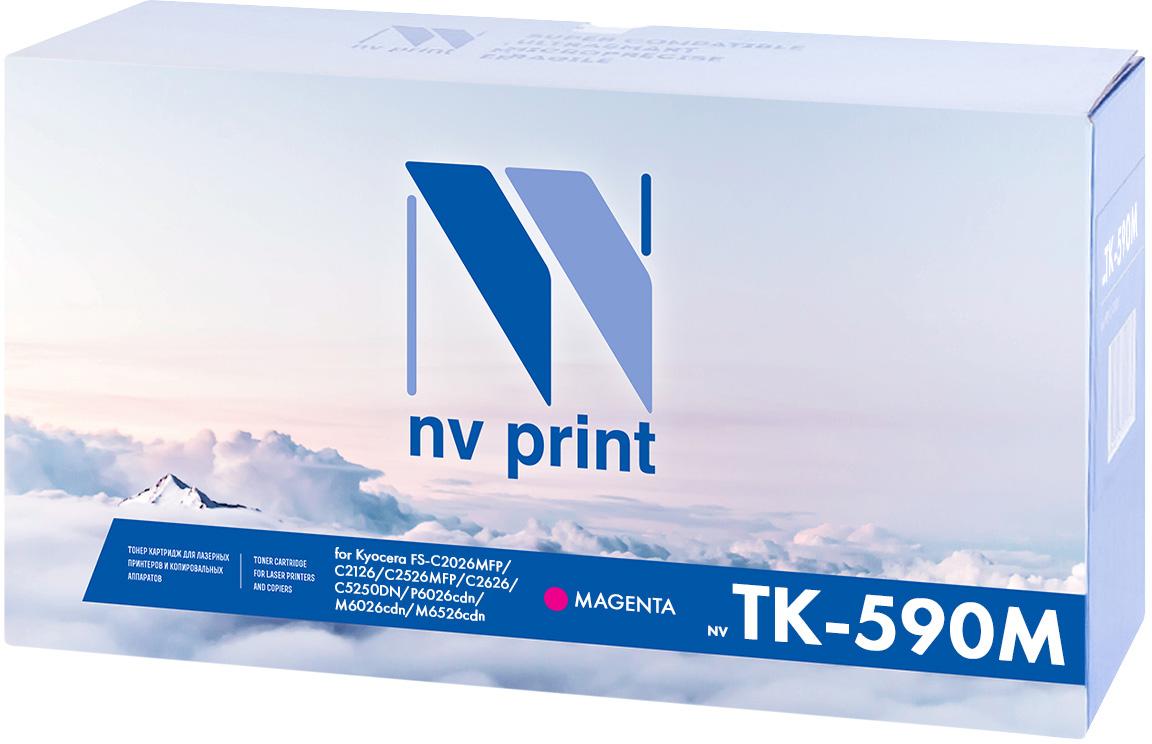 NV Print TK-590M, Magenta тонер-картридж для Kyocera FS-C2026MFP/C2126MFP/C2526MFP/C2626MFP/C5250DN