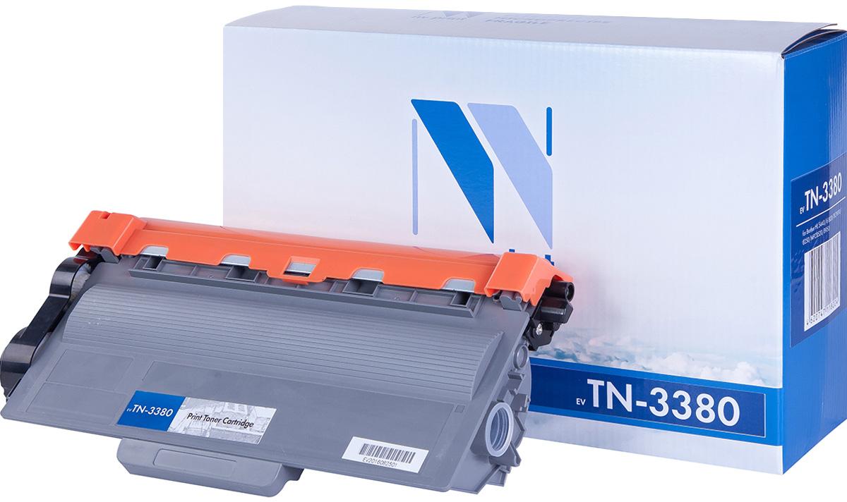NV Print TN3380, Black тонер-картридж для Brother HL-5440D/5450DN/5470DW/6180DW/DCP8110/8250/MFC8520/8950NV-TN3380Совместимый лазерный картридж NV Print TN3380 для печатающих устройств Brother - это альтернатива приобретению оригинальных расходных материалов. При этом качество печати остается высоким. Картридж обеспечивает повышенную чёткость чёрного текста и плавность переходов оттенков серого цвета и полутонов, позволяет отображать мельчайшие детали изображения.Лазерные принтеры, копировальные аппараты и МФУ являются более выгодными в печати, чем струйные устройства, так как лазерных картриджей хватает на значительно большее количество отпечатков, чем обычных. Для печати в данном случае используются не чернила, а тонер.