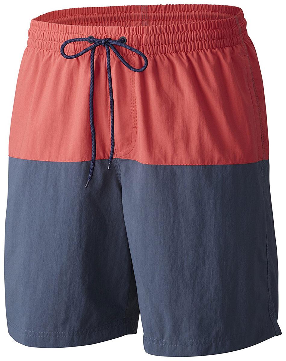Шорты пляжные мужские Columbia Lakeside Leisure Short, цвет: красный, синий. 1658782-684. Размер S (44/46) шорты мужские nike hbr short цвет белый 718830 100 размер s 44 46