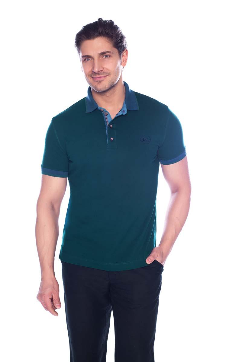 Поло мужское BeGood, цвет: темно-зеленый. SS17-BGUZ-624А. Размер 48 цена