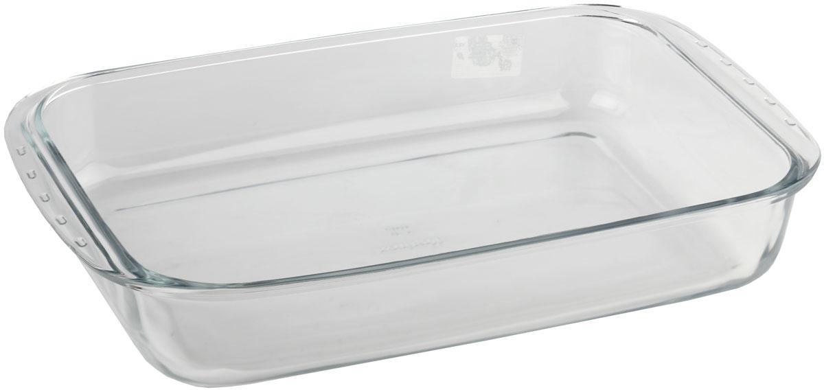 Форма для запекания Marinex, прямоугольная. M165370-1M165370-1Форма для запекания Marinex изготовлена из жаропрочного стекла. Форма предназначена для приготовления горячих блюд. Изделие дополнено двумя ручками. Материал изделия гигиеничен, прост в уходе и обладает высокой степенью прочности. Форма идеально подходит для использования в духовках, микроволновых печах. Можно мыть в посудомоечной машине.