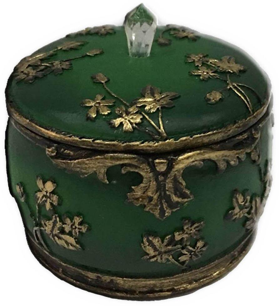Шкатулка декоративная Magic Home, цвет: зеленый , 7,5 х 7,5 х 6 см шкатулка декоративная dg home 29х21 5х10 см dg d 786b