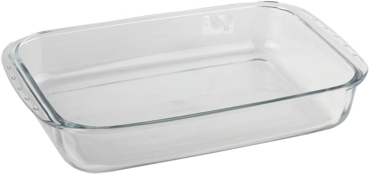 Форма для запекания Marinex, прямоугольная. MC165389MC165389Форма для запекания Marinex изготовлена из жаропрочного стекла. Форма предназначена для приготовления горячих блюд. Изделие дополнено двумя ручками. Материал изделия гигиеничен, прост в уходе и обладает высокой степенью прочности. Форма идеально подходит для использования в духовках, микроволновых печах. Можно мыть в посудомоечной машине.