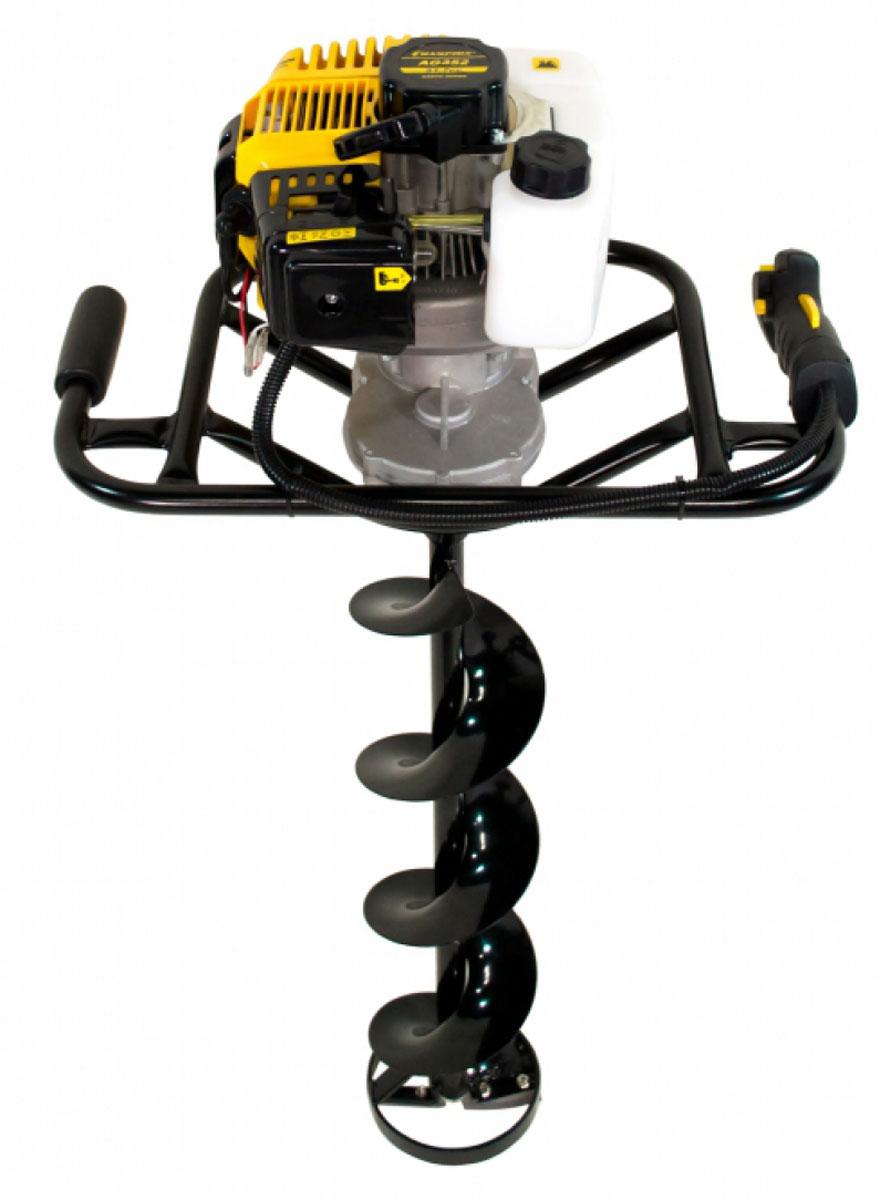 Мотобур Champion AG352AG352Мотобур Champion AG352 подходит для работы с большими шнеками - до 250 мм в диаметре. Модель оснащена двухтактным двигателем 1,9 л.с. и вместительным бензобаком - 0,98 литров. Особенности:Передаточное число 40:1.Диаметры шнеков (грунт): 60 мм, 80 мм, 100 мм, 150 мм, 250 мм.Вес без шнека: 9,4 кг.Диаметры шнека (лед): 150 мм.Максимальные обороты без нагрузки: 8700 об/мин.Шнек в комплект не входит!