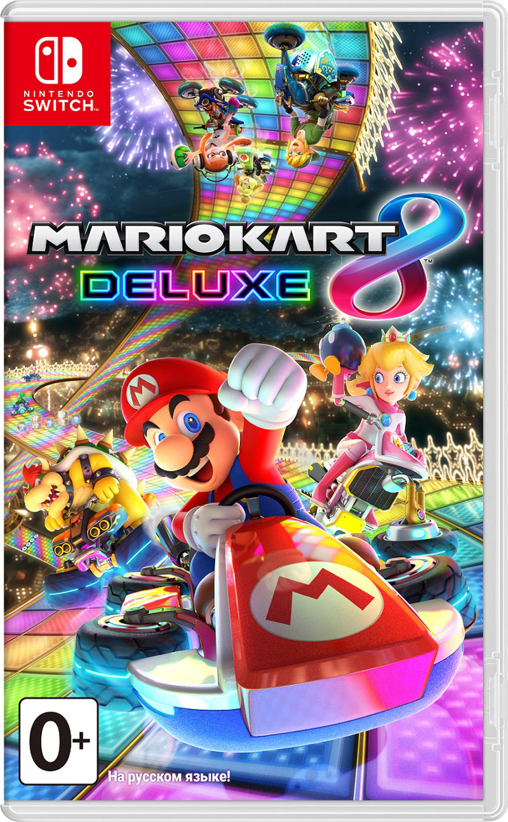 Mario Kart 8 Deluxe (Nintendo Switch) игровая приставка new nintendo 2ds xl black lime mario kart 7