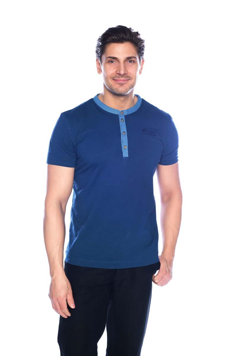 Футболка мужская BeGood, цвет: синий. SS17-BGUZ-941. Размер 60 шорты женские begood цвет фуксия ss17 bguz 978 размер 48