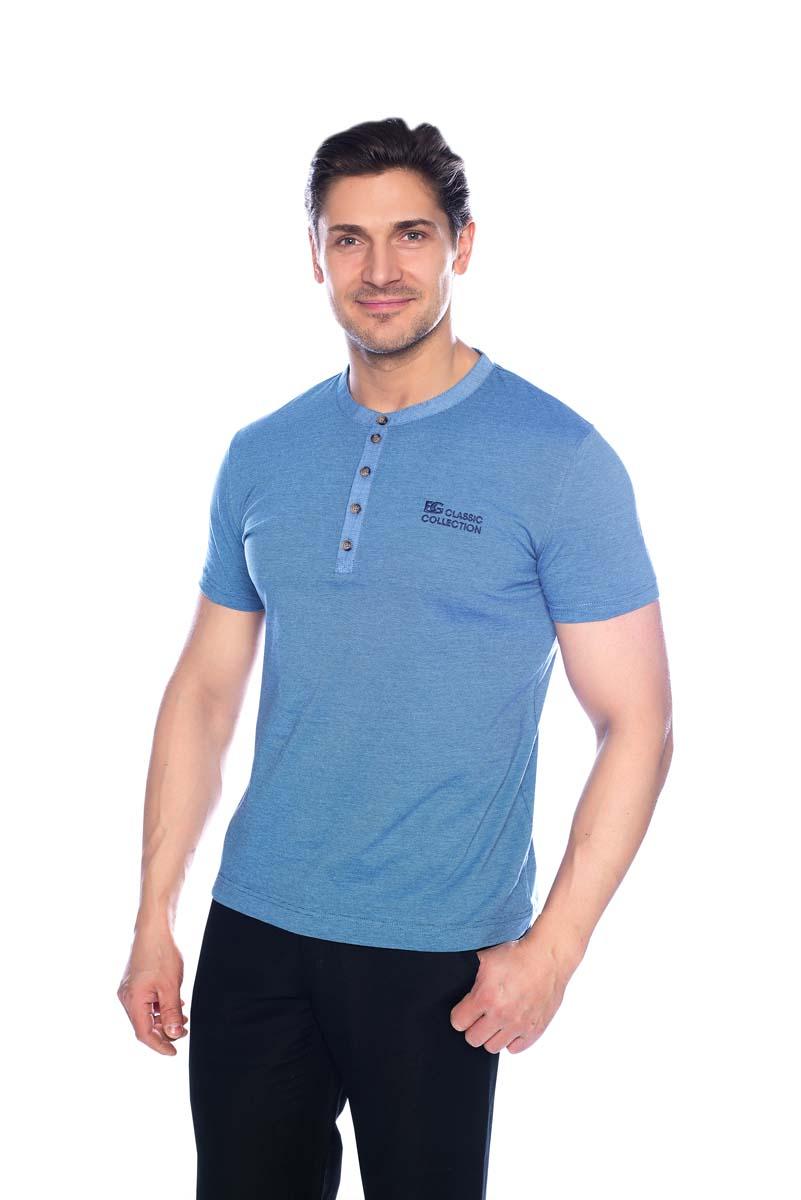 Футболка мужская BeGood, цвет: голубой. SS17-BGUZ-941A. Размер 60 шорты женские begood цвет фуксия ss17 bguz 978 размер 48