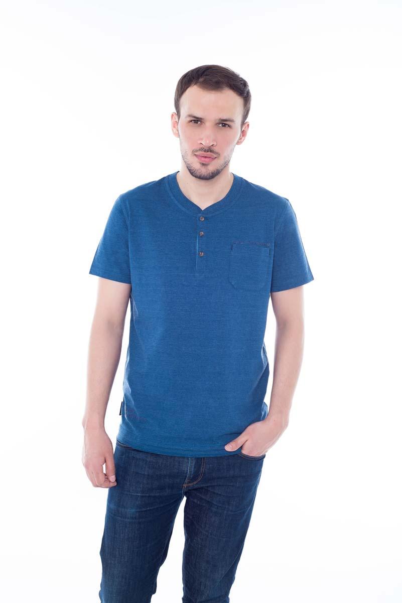 Футболка мужская BeGood, цвет: синий. SS17-BGUZ-997A. Размер 60 шорты женские begood цвет фуксия ss17 bguz 978 размер 48