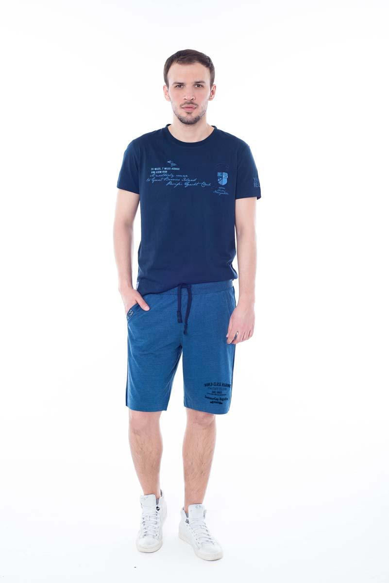 Шорты мужские BeGood, цвет: синий. SS17-BGUZ-992. Размер 56SS17-BGUZ-992Шорты BeGood изготовлены из хлопка. Модель на завязках дополнена боковыми карманами.