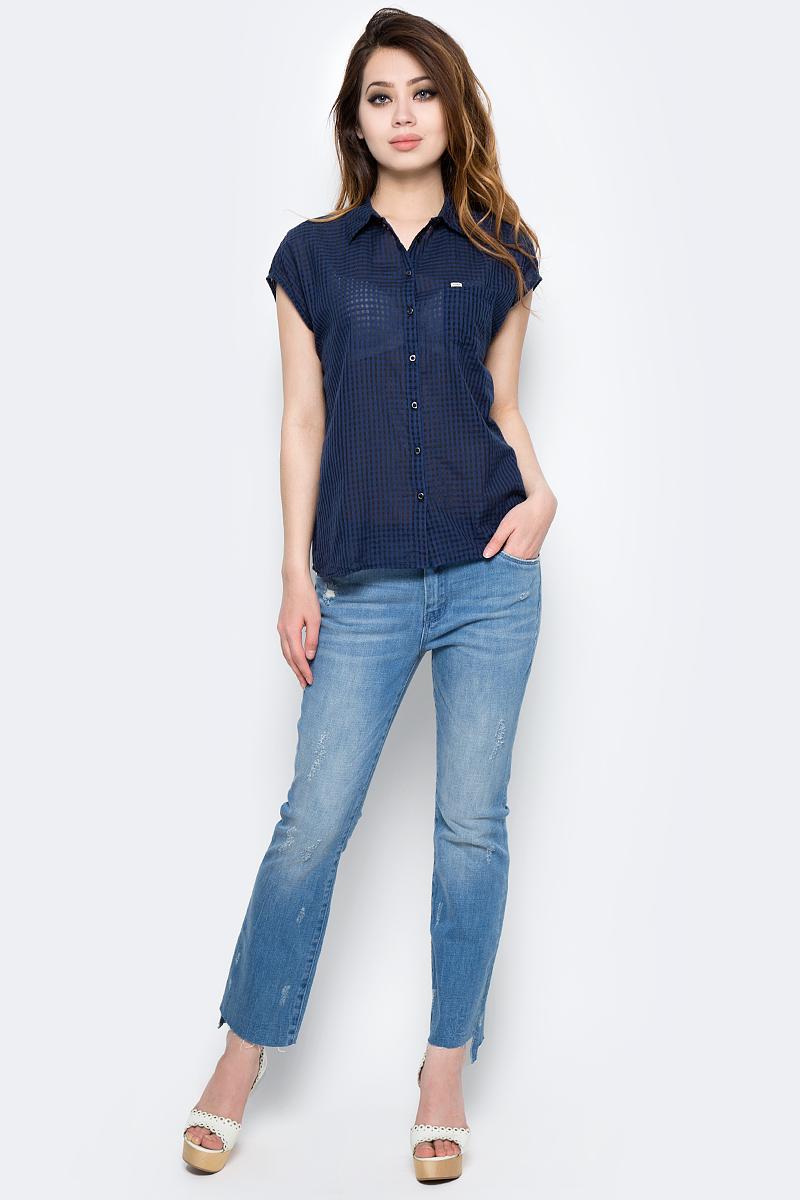Блузка женский Lee, цвет: синий. L47ESQPS. Размер L (46)L47ESQPS