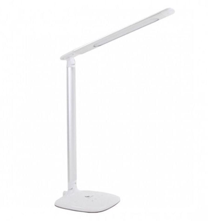 Эта лампа может изменять цветовую температуру от теплого белого до дневного света, чтобы подстроиться под уровень освещенности в течение дня. Лампа с регулируемой яркостью до 5 режимов. Лампа складная и легкая, очень удобна для транспортировки.  Техническая спецификация: Источник света: светодиоды Яркость люкс на 30 см: 930 Люкс Цветовая температура света: 2800-5500 ° К Потребление электроэнергии: 6W Цвет: белый Размер : 36,5х31,5х14,5 см Длина кронштейна: 43 см Вес: 0,7 кг Длина шнура питания: 1,5 м  Основные характеристики: 3 цветовые температуры - 2700, 4,000? & 6,500?K Daylight cветодиоды обеспечивают истинную цветопередачу при установке 6,500?K 5 режимов диммера Идеальное направление света Легкая и удобная для транспортировки USB-совместимая