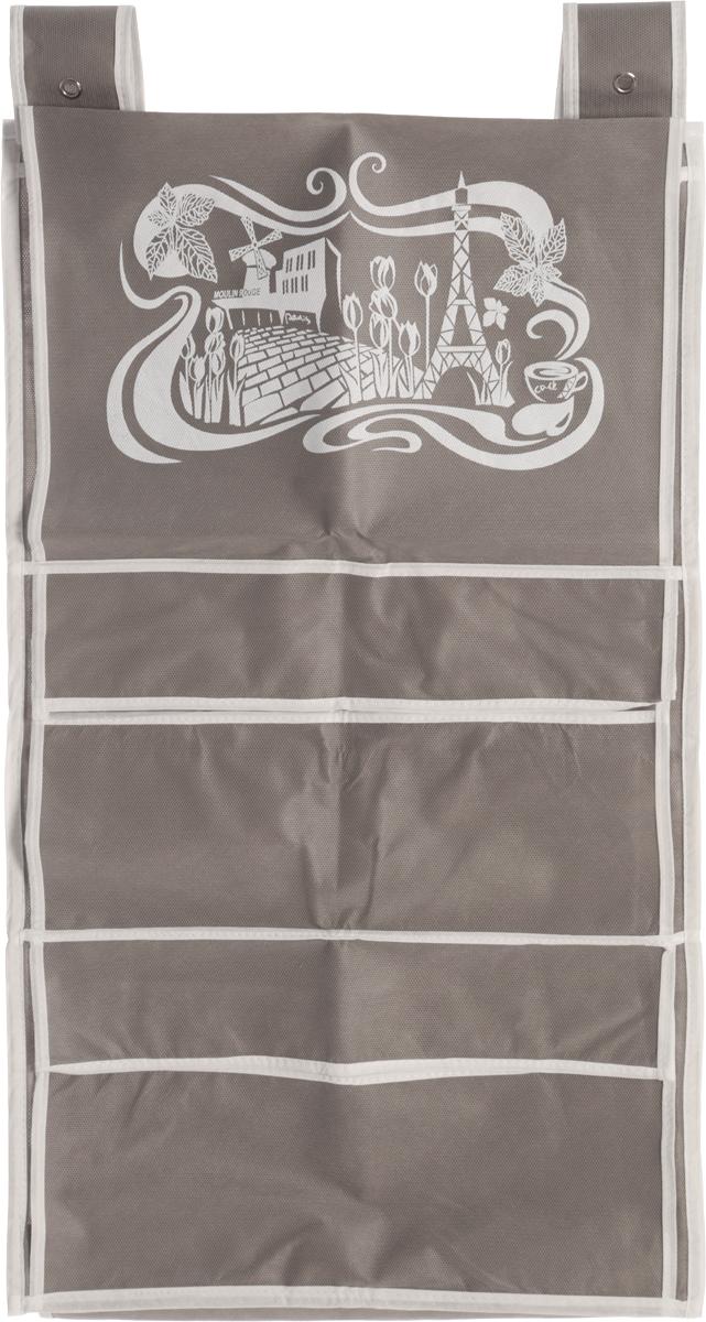 Кофр для сумок и аксессуаров Все на местах Париж, цвет: серый, белый, 8 секций, 40 х 70 см1003019.Кофр для сумок и аксессуаров Все на местах Париж выполнен из спанбонда и ПВХ. Модель крепится на штангу в шкафу или вешалку-плечики. Выделено 8 секций для хранения сумок, клатчей, театральных сумок, кошельков, зонтов, перчаток, палантинов, шарфов, шалей и т.д. Кофр решает проблему компактного хранения сумок и экономит место в шкафу.Размеры: 40 х 70 см.