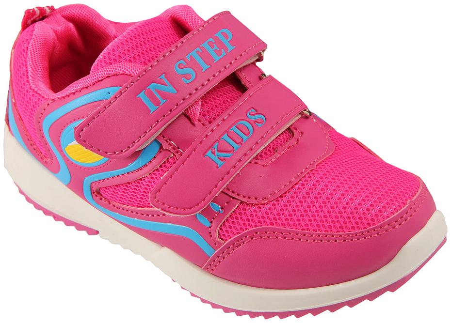 Кроссовки детские In Step, цвет: розовый. HF035-2. Размер 32HF035-2Детские кроссовки от In Step выполнены из комбинации дышащего текстиля и искусственной кожи. Ремешки на липучке гарантируют надежную фиксацию обуви на ноге. Внутренняя поверхность и стелька из текстиля комфортны при движении. Рельефная подошва изготовлена из резины.