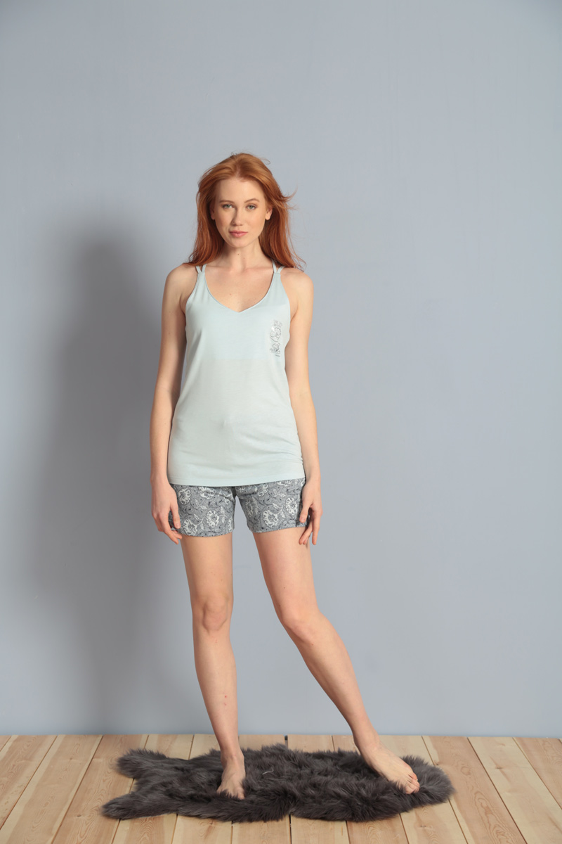 Домашний комплект жен Kezokino, цвет: голубой. 609092 1171. Размер L (48)609092 1171