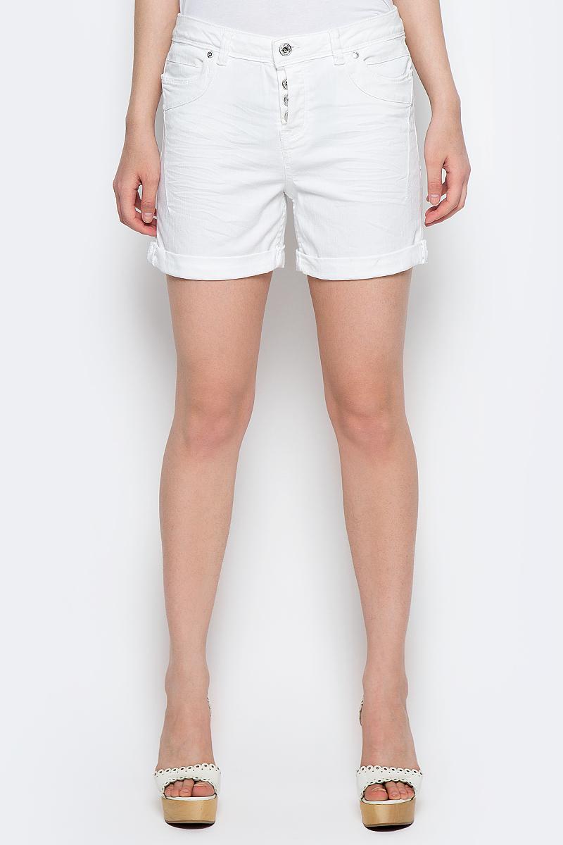 Шорты женские Tom Tailor Denim, цвет: белый. 6205533.00.71_2000. Размер 26 (42) шорты женские