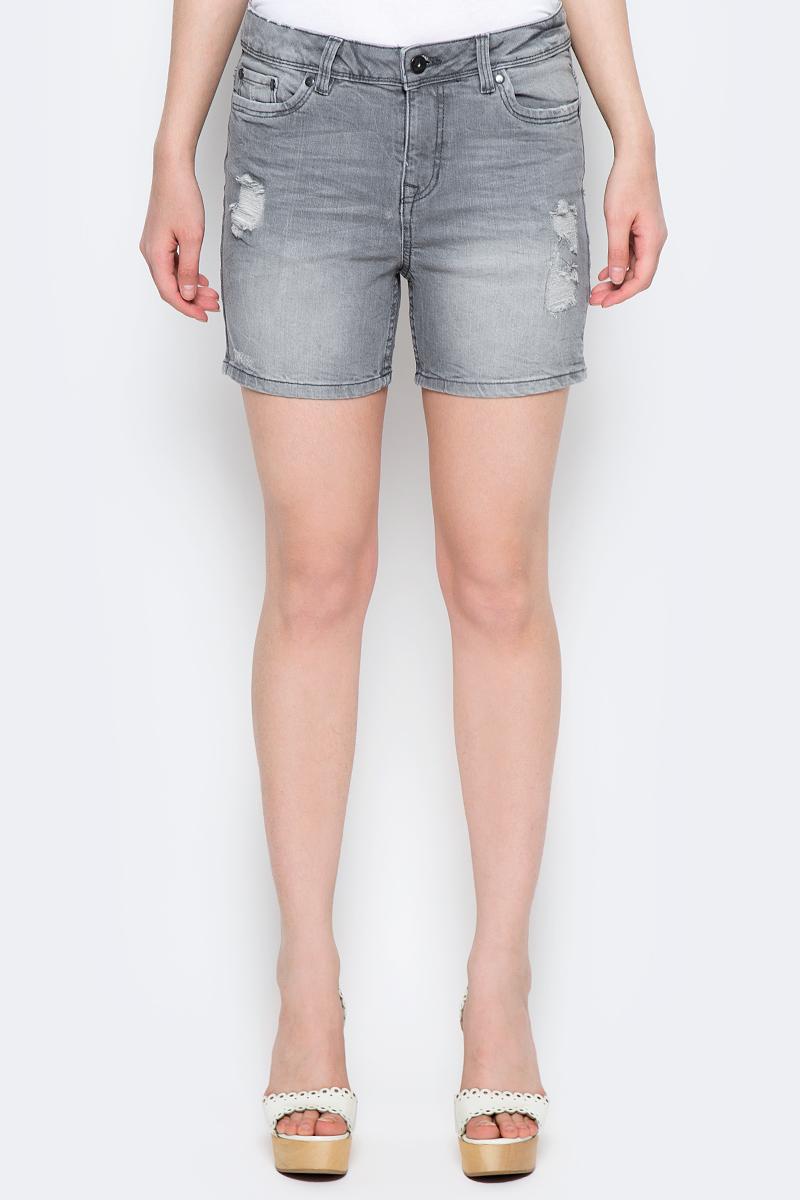 Купить Шорты женские Tom Tailor Denim, цвет: серый. 6205535.00.71_1300. Размер 27 (42/44)