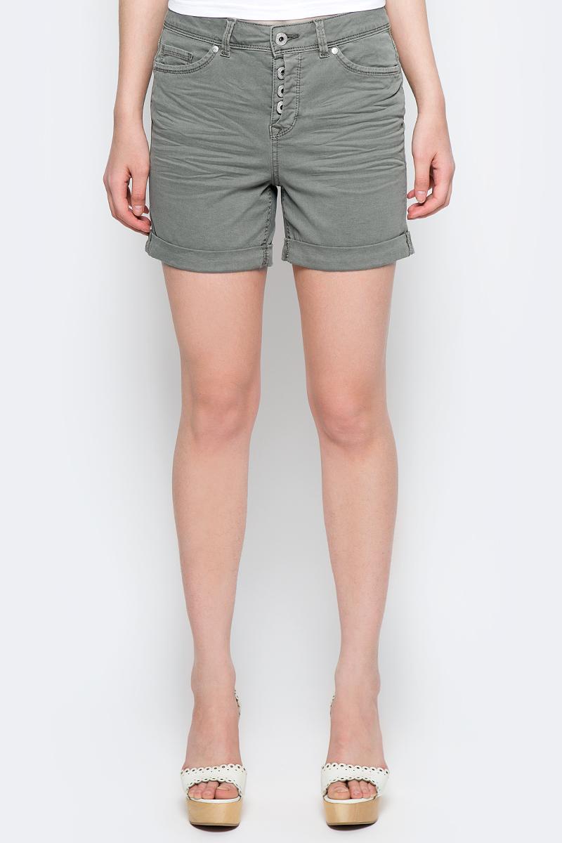 Шорты женские Tom Tailor Denim, цвет: хаки. 6405166.00.71_7771. Размер 26 (42) шорты женские